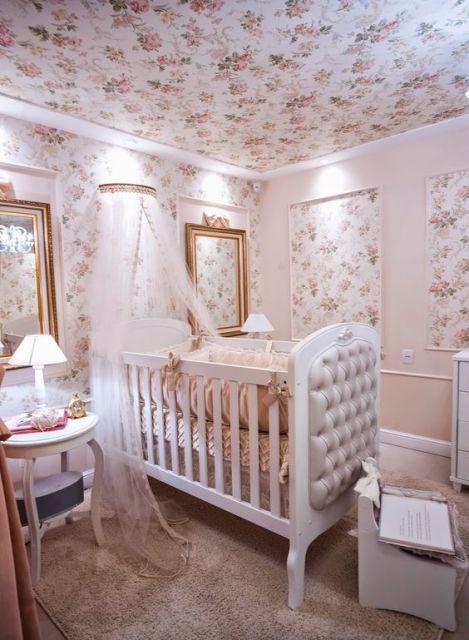 casa-da- cris Papel-de-parede-para-quarto-de-bebê-flores-meninas