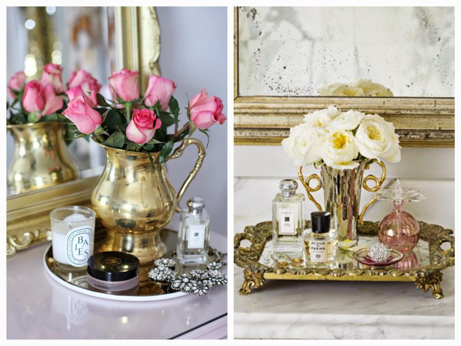 Colocar flores em vasos e pequenas bandejinhas ou pratinhos antigos  #66492D 1600 1200