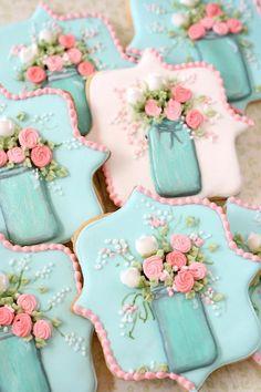 casa da cris biscoito glaçado flores