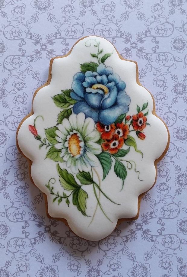 casa da cris biscoito glaçado pintado