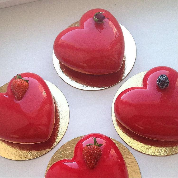 casa da cris bolo de vidro vermelho coração