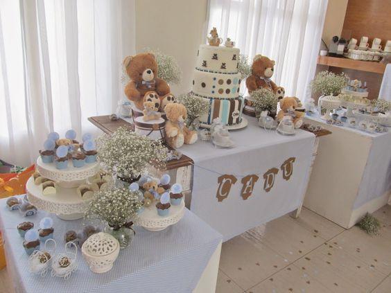 casa da cris chá de bebê mesa azul tres mesas