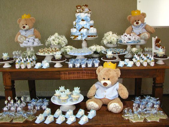 casa da cris chá de bebê mesa ursinhos