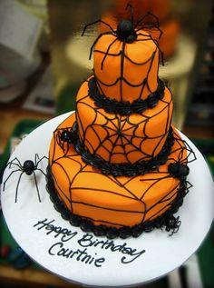 casa da cris halloween bolo aranha