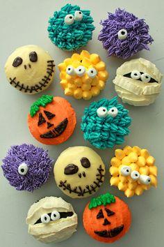 casa da cris halloween cupcakes caveira e monstros