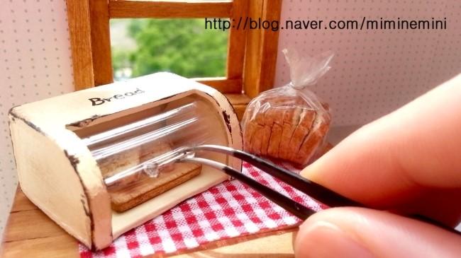 Pão em miniatura